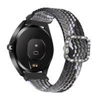 Watch Bands 20 22mm Braided Solo Loop Band For Huawei GT 2 Pro 2e Strap Samsung Galaxy 3 41mm 45mm Active Gear S3 Bracelet