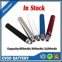 Evod Elektronik Sigara Piller Düğmesi Basınçlı Pil 650mAh / 900mAh / 1600 MAH Preheat VV Değişken Gerilim Vape Kalem Kutusu Mod Seti Stokta