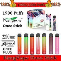 Kangvape Onee Stick Alphaa Plus Disable Vape Pen E Cigarros Dispositivo 1100mAh 1900 2200 Puffs 6.2ml Cartucho
