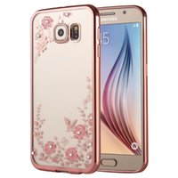 Galaxy A9 A900 꽃 패턴 전기 도금 소프트 TPU 보호 커버 케이스