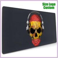 Mouse Pads & Wrist Rests Dark Skull Deejay With Spanish Flag Extended Xl Gamer Mousepad Alfombrilla Raton Pc Completo Support