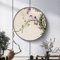Paintings Traditional Chinese Style Flower Tree Birds Wall Art Pictures Posters Prints For Living Room Home Office Canvas Decor