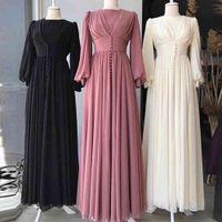 Abaya Dubai Turchia Abito da hijab musulmano Abiti Abiti Abiti per le donne Robe Femme Caftano Caftano Marocco Kaftan Abbigliamento Islamico Vestidos Largos