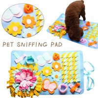Pet Dog Snuffle Mat Nosework Pad Feeding Washable Sniffing Training Blanket Detachable Fleece Pads For Dogs Puppy Kennels & Pens
