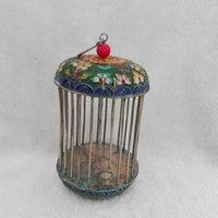 3 цвет старый фарфор ручной работы великолепный тибет серебряный Cloisonne Cricket клетка краска цветок рождественский подарок