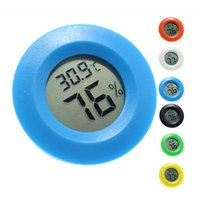 Mini Rodada Termômetro Higrômetro Instrumento Prático Digital Indoor Hygrômetros LCD Display Temperatura Medidor Medidor De Aquário Indústria Termômetros