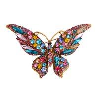 머리 모조 다이아몬드 나비 브로치 화려한 빛나는 크리스탈 브로치 핀 장식 선물 여성용 여자 211501