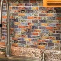 Art3D 30x30cm 3D Wandaufkleber Faux Keramik Fliesendesign Selbstklebende Wasserdichtschale Und Stick Backplash Fliesen für Küche Badezimmer, Tapeten (10 stücke)