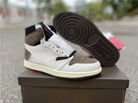 Reverse Barb Jumpman 1 1S Zapatos de baloncesto para hombre Gris Blanco Blanco Color negro Deportes Deportes Zapatillas deportivas con caja de tamaño completo 40-47.5