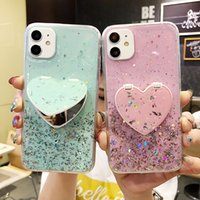 Luxury Glitter Mirror Mobile Phone Cases with Holder for iPhone 13 XS XR 12 Pro Max 11 Kickstand Water Resistant Dirt-resistant Shockproof Case