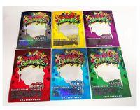 6 أنواع 500 ملليغ ميج ملغ رطب عموميات ميلار حقيبة ordibles تغليف ضحكة الضحكة الصالحة للأكل البريدي قفل غائر لملفات تعريف الارتباط التبغ زهرة runtz