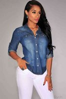 Spring Retro Women Casual Blue Jean Denim Jackets Long Sleeve Slim Tops Fashion Cool Jackets S-2XL