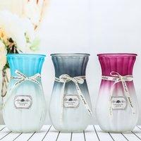 20 cm Kreative Farbverlauf farbige Glasvase Gläser Hydroponische Flasche Wohnzimmer Schlafzimmer Dekoration Vasen