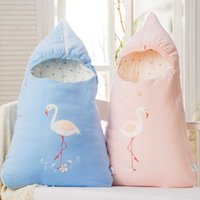Baby sleeping bag envelop for neonate pure cotton newborn baby infant wrapped cocoon in winter stroller bag bionic design H1019