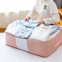 الملابس خزانة الملابس MCAO حقيبة واضحة نافذة المعززة مقابض النسيج قوي سستة ماء قابلة للطي تحت السرير منظم 1PCTJ3777