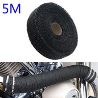 Motorcycle Exhaust System 5M Manifolds Glass Fiber Thermal Heat Wrap Car Pipe Insulation Tape With Stainless Ties