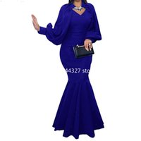 Ethnic Clothing Sexy African Evening Maxi Dresses For Women Party Dress Dashiki Fishtail Gown Africa Clothes Plus Size Bodycon Christmas Rob