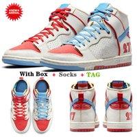 2021 Yeni Ishod Wair X Magnus Walker 277 SB Dunk Koşu Ayakkabıları Yüksek Kadın Erkek Eğitmenler UNC Siyah Beyaz Mavi Kırmızı Yelken Kentsel Outlaw Rahat Kaykay Spor Sneakers