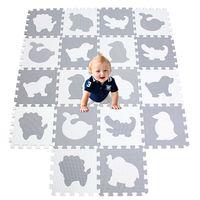 Meiqicool 18 pçs / set baby play tap dos desenhos animados eva espuma espuma puzzle esteira crianças jigsaw educacional playmat dígitos jogar tapetes telhas infantis h0831
