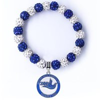 Charm Bracelets Large Size ZETA PHI BETA Sorority Badge Shield Bracelet For Greek Society Jewelry Beads Bangle