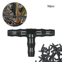 50pcs Sets Tee Joint Hose Connector Irrigation Barbed Water Pipe Watering System Garden For Drip Equipments