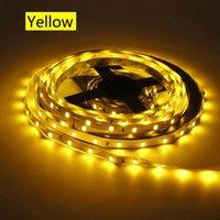 Tiras LED tira luz flexível 2835 SMD 60LEDS / M Amarelo Amarelo Não À Prova D 'Água 12V 1M 2M 3M 4M 5m TV Luminária DC