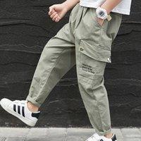 Trousers Summer Boys Casual Sports Pants Kids Elastic Waist Fashion Cargo Teenage Clothing Children Jogger