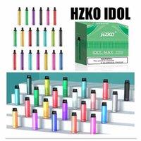 Hzko Idol Bar Max Pro Disponeable E Cigarette Vape Pen 600 2000 2800 Puffs 3ML POD Dispositivo Vaporizador 22 colores 3pcs A Pack Authentic