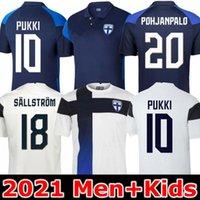 2021 Finlândia National Team Soccer Jerseys Pukki Skrabb Raitala Pohjanpalo Kamara Sallstrom Jensen Lod Home Away Camisa de Futebol Uniformes 20 21