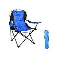 Sedia pieghevole da campo portatile verniciato in PVC, sedia in acciaio per tubo in acciaio sedia in camper con portabicchieri e pad giochi sportivi