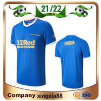 2021 Rangers Fussball Jerseys Glasgow 2022 150. Jubiläumsjahren Defoe Hagi Barker Morelos 21 22 Fußball Hemd Männer Top Thailand
