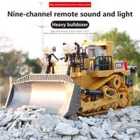 RC Truck Bulldozer 124 EXCAVADOR DE JUGUETE Aleación de juguetes y ingeniería de plástico Coche 6CH LED LED Radio Controlado Vehículo