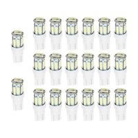 20pcs Lot T10 7020 10SMD LED Car Bulbs For Clearance Lamp License Plate Light Wedge Replacement Reverse Instrument 12V