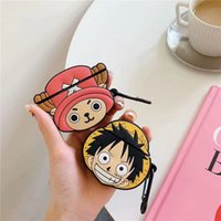For Airpods Case,3D Cartoon Cute ONE PIECE Luffy Choppe Case For Airpods 1 2 Case Silicone Earphone Cover For Airpods Case