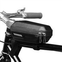 Cycling Bags Rainproof 1L Front Bike Bag Waterproof Hard Shell Mtb Top Tube Bicycle Accessories Capacity