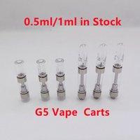 G5 Vape Cartridge Atomizers 0.5ml 1ml 510 Thread Foam package Thick Oil Press Screw Mouthpiece MT6 Ceramic Coil Th105 TH205 TH210 Carts