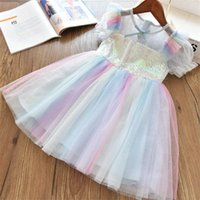 Girl's Dresses Little Princess Party Dress For Girls Sequined Evening Gown Birthday Crystal Fashion 3-8T Kids Casual Holiday Wear