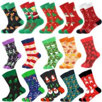 Christmas Tree Snow Elk Gift Cotton Happy Socks New Autumn Winter Christmas Socks Men Funny New Year Santa Claus WHT0228
