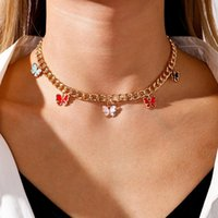 Chains Butterfly Fashion Necklace For Women Jewelry Chokers Collares Chain Streetwear Bijoux Femme Pendant Bohemian Accessories