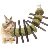 Chews Toys Pequeñas mascotas Dientes Mejorar la salud dental 100% Natural Organic Apple Ramitas Timoteo Hierba Bola String Cat