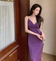 Casual Dresses Women Sexy V Neck Maxi Sleeveless Backless Long Dress 2021 Summer Elegant Lady Vestido