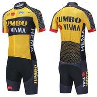 JUMBO VISMA Radfahren Jersey 20D-Shorts MTB MAILLOT BIKE-Hemd Downhill Pro Mountain Bicycle Kleidung Anzug