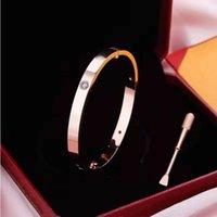 Männer und Frauen lieben Rose Gold 316L Edelstahl Schraube Armreif Armband mit Schraubendreher und Original Box Set