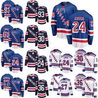 York Rangers Ice Hockey Jerseys 10 Artemi Panarin Jersey 27 Ryan McDonagh 24 Kaapo Kakko 61 Rick Nash Mika Zibanejad Blue Steinst