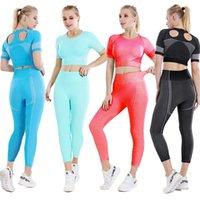 Feminino Sui Woman Tracksuits Terno para Fitness Yoga Set Leggings A roupa 2021 ROPA DEPORTIVA Mujer Outfit