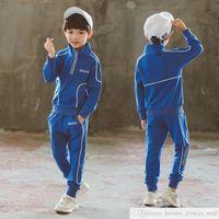 Пользовательский собственный бренд 2021 весенняя и осень одежда 7 мальчиков костюм красочные буквы корейский стиль спортивный красивый средний и большие дети маленькие мальчики детей 8 лет