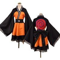 Naruto Uzumaki Shippuden Akatsuki Organisation Lolita Kimono Kleid Cosplay Kostüm