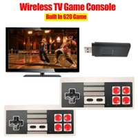 Portable Game Players 2021 Retro Video Console 8 Bit Built In 620 Mini 480P Wireless Support AV Output Dual Gamepads