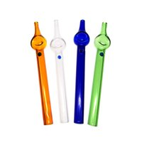 6.3'' Straight tube smoking accessories colored glass nectar collector