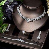HIBRIDE - African 4pcs Bridal Sets Fashion Dubai Jewelry Set for Women Wedding Party Accessories Design N-126